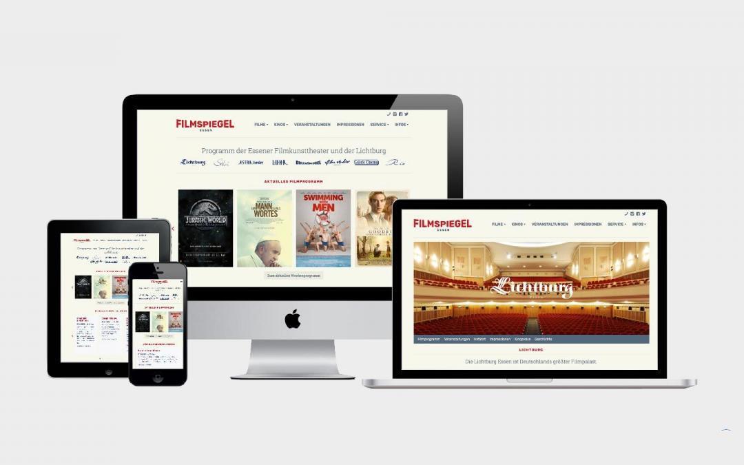Moderner Online-Auftritt für die Lichtburg und die Essener Filmkunsttheater