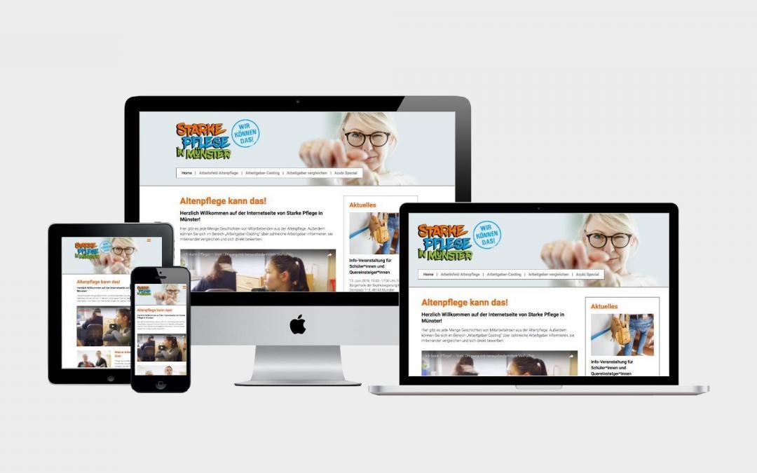 Onlineauftritt für Fachkräfteoffensive in Münster