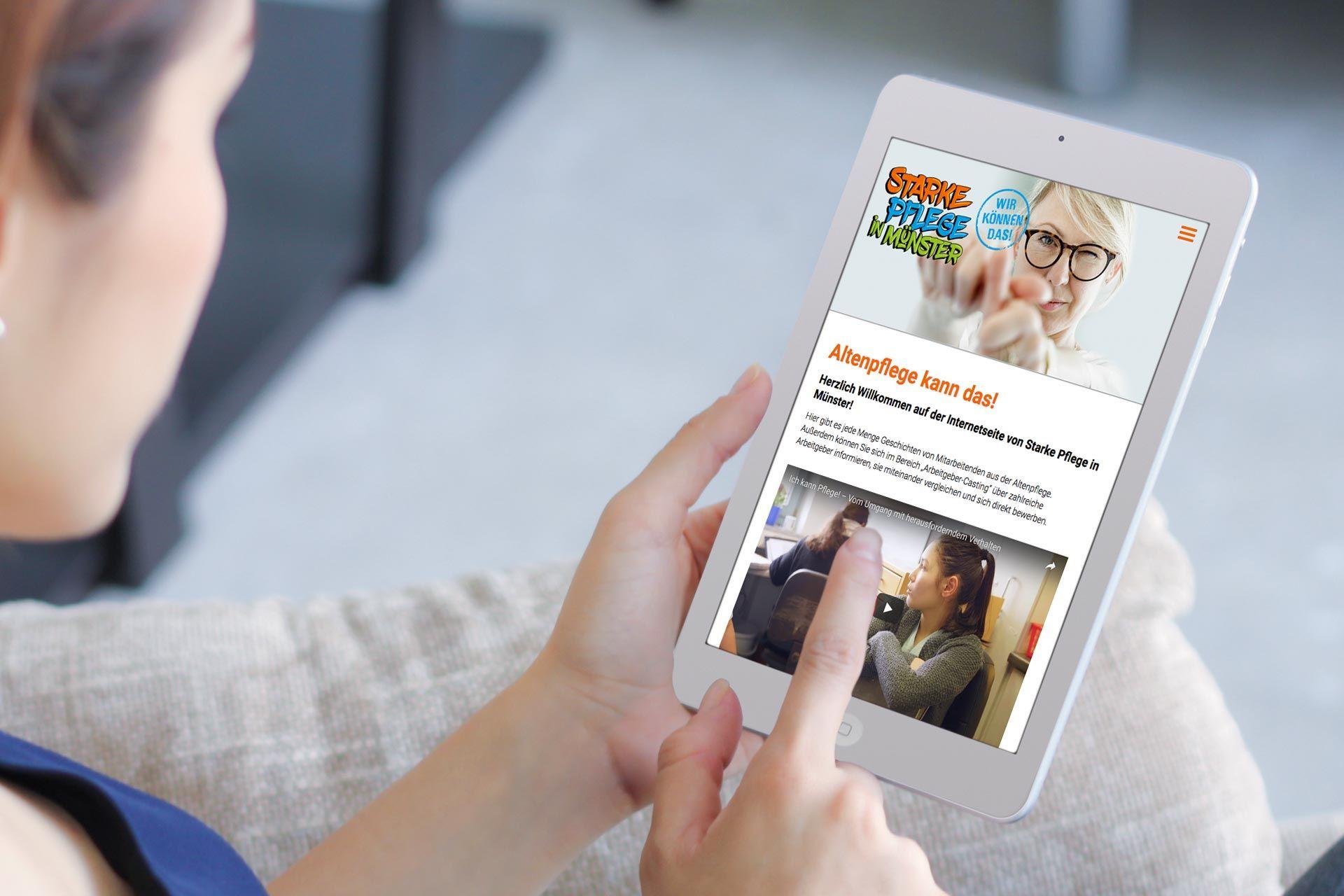 Foto: Screenshot von www.starke-pflege-muenster.de