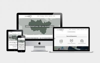 Corporate Design und Online-Präsenz für das Stiftungsnetzwerk Ruhr