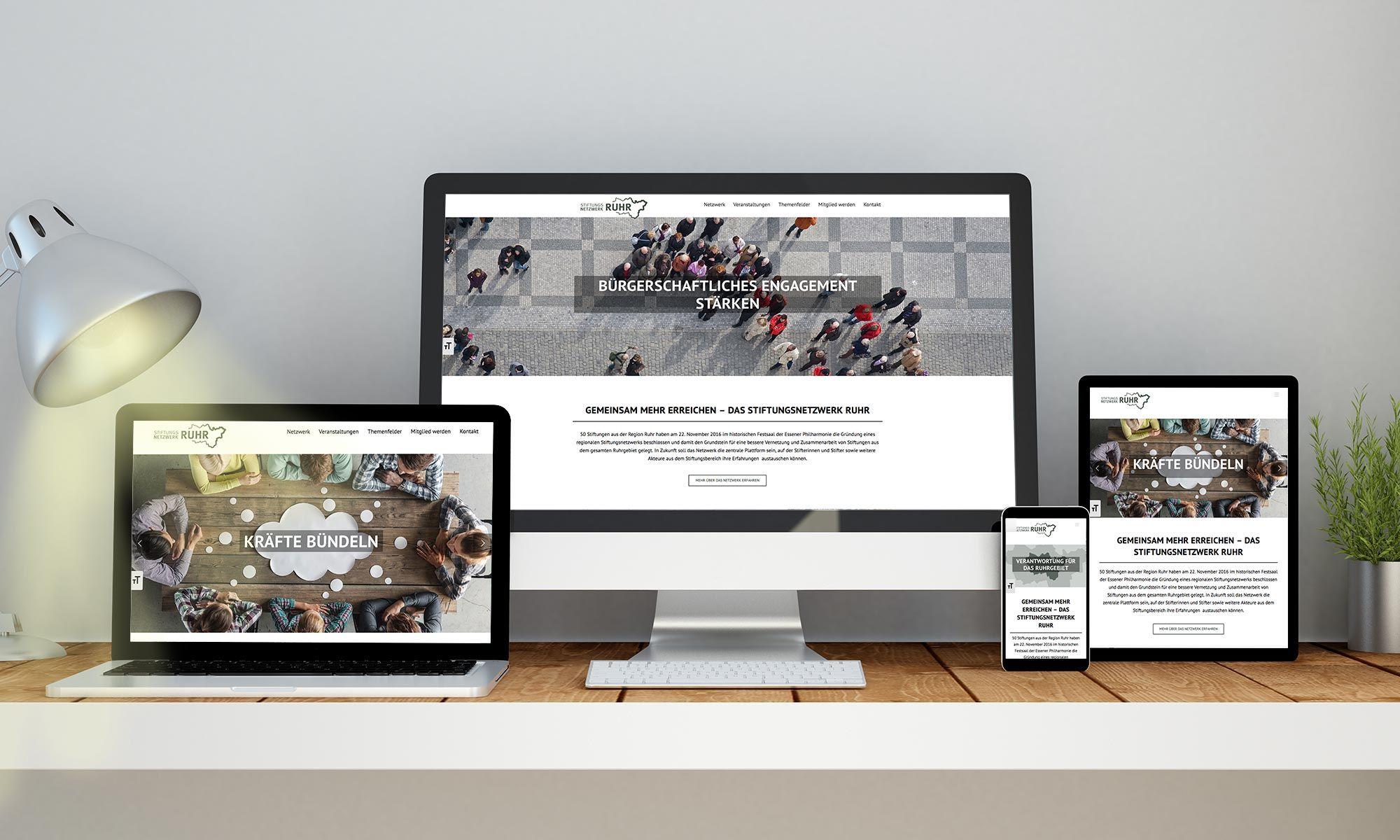 Foto: Screenshot von www.stiftungsnetzwerk.ruhr