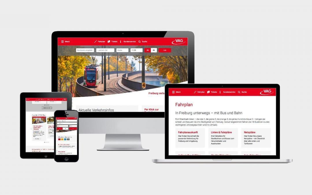 Freiburg verbunden – die neue Webseite der VAG Freiburg