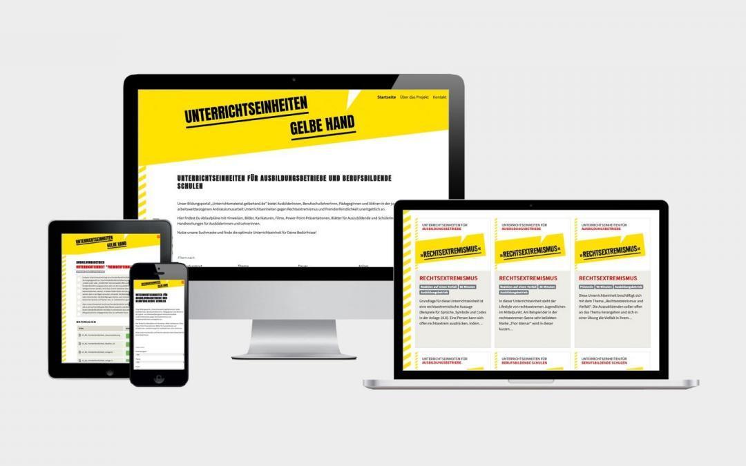 """Bildungsportal """"Unterrichtsmaterial.gelbehand.de"""""""